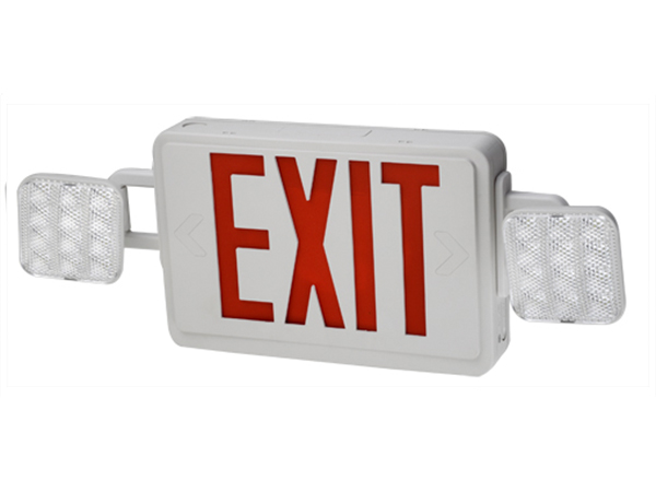 Emergency exit sign combo